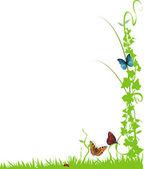 Printemps fond floral — Vecteur
