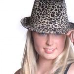 Woman wearing hat — Stock Photo #2021009