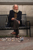 Lonely Old  Man — Stock Photo
