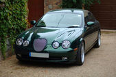 Green Jaguar S Type — Stockfoto