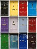 Viktorianska dörrar — Stockfoto