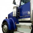Blue truck cab — Stock Photo