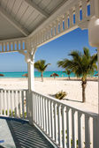 Beach from gazebo — Stock Photo