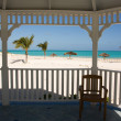 Tropical beach from gazebo — Stock Photo #2047928