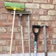 Old garden tools - Stock Photo