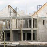 parcialmente construído casa — Foto Stock