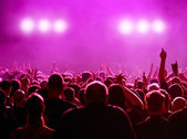Silhouette of Party audience or concert — Stock Photo