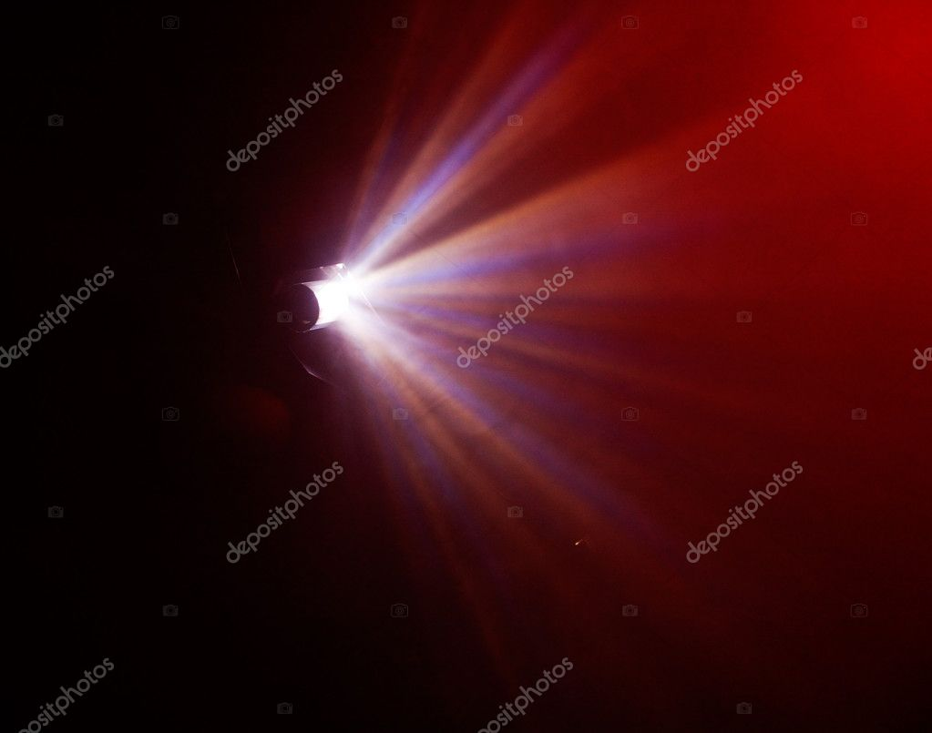 Blurry light beams from stage lightning equipment at concert  Stock Photo #2087903