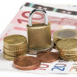 Locked money — Stock Photo