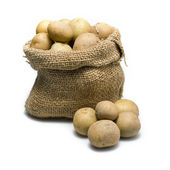 Sack of potatoes — Stock Photo