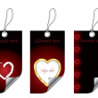 Royalty-Free Stock Vector Image: Heart labels