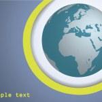 Blue Globe — Stock Vector