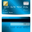 Stock Vector: Halftone credit card design
