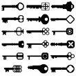 Key Icon set - Stok Vektör
