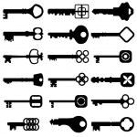 sleutel-pictogrammenset — Stockvector