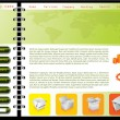 Royalty-Free Stock Vector Image: Green combined with orange web template