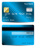 Diseño de tarjeta de crédito de semitono — Vector de stock