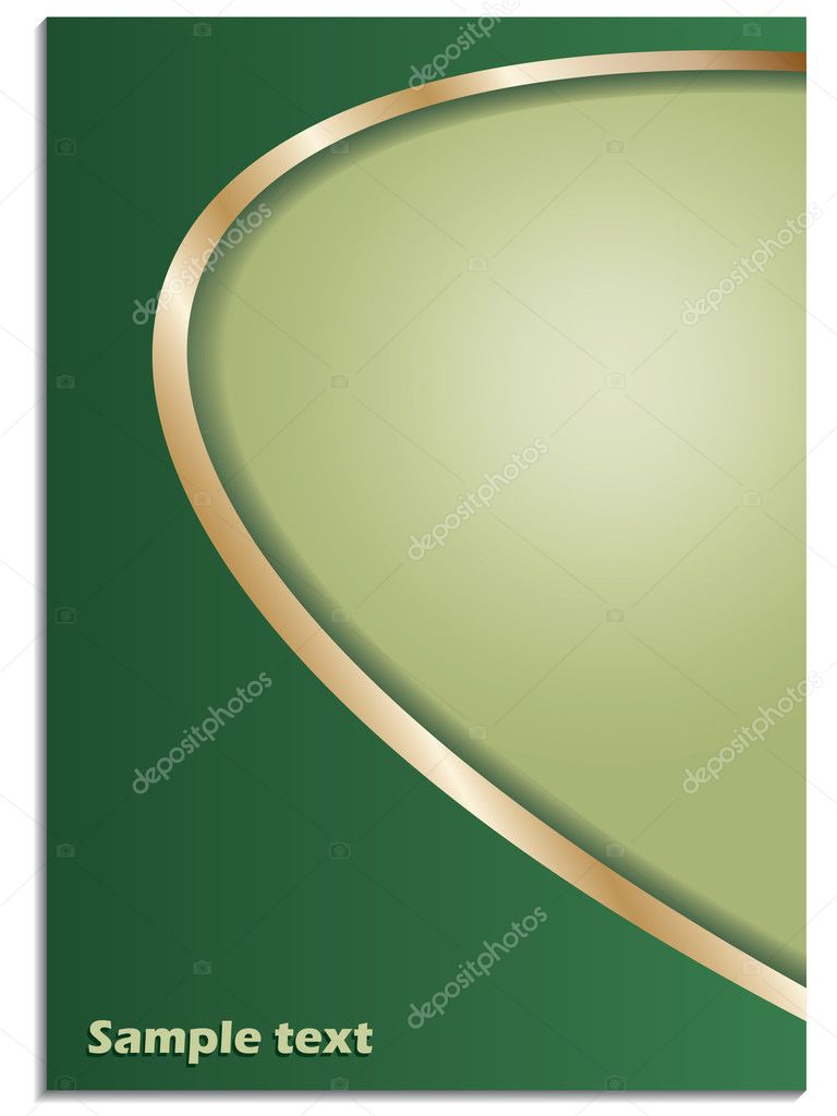 Green background  with gold frames — Stock Vector #2572587