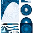 Twirling blue company vector set - Image vectorielle