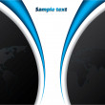 Blue and black Company brochure — Stock Vector