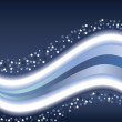 Waves &amp; stars - Imagen vectorial