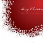 cartolina di Natale rosso — Vettoriale Stock