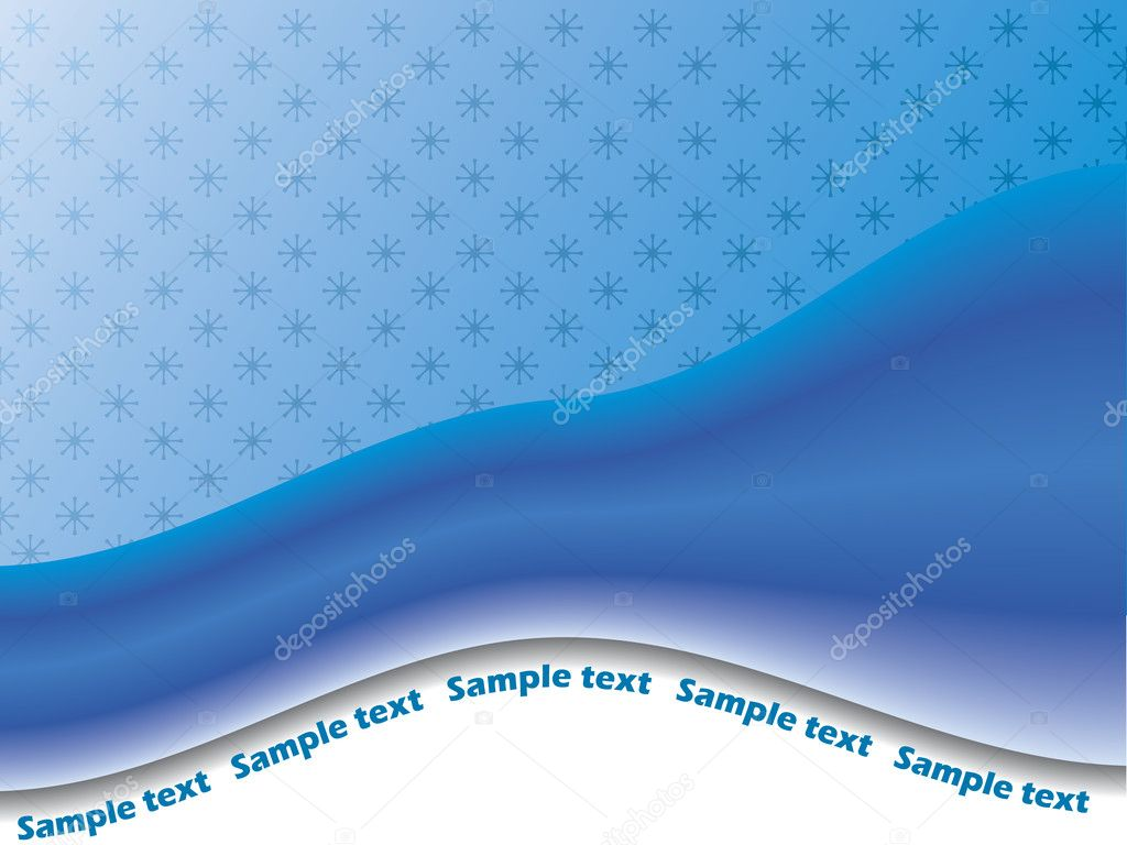 Abstract blue textured backgroundand wave — Stock Vector #2594402