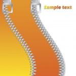 Orange Double Zippered — Stock Vector #2613688