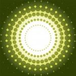 Halftone green background — Stock Vector