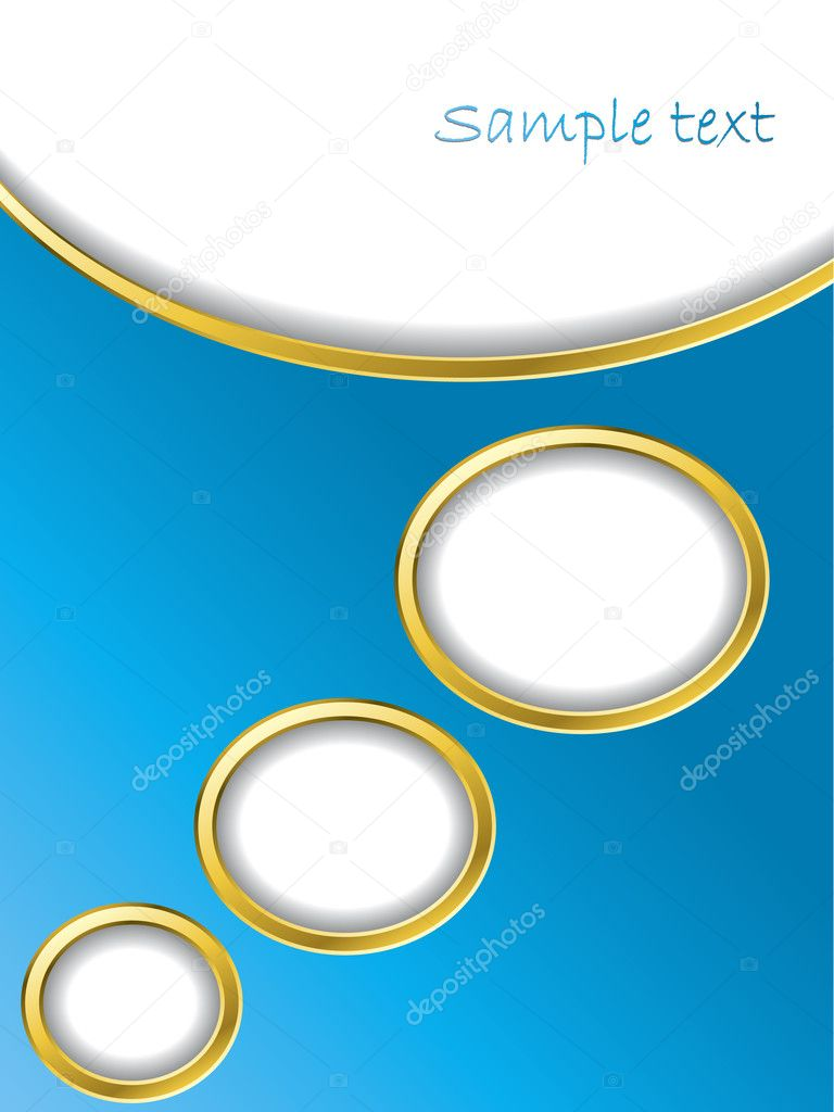 Text bubble background with gold trimming  Stock Vector #2618842