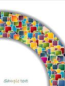 Colorful semi-circle — Stock Vector