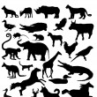 Animal silhouettes — Stock Vector