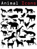 动物剪影 — 图库矢量图片