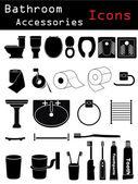 Bathroom Accessories — Stock Vector