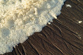 Texture of humid sand — Stock Photo