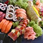 Sushi party tray — Stock Photo