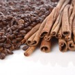 Coffee and cinnamon — Stock Photo