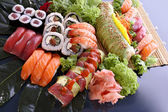 Sushi party tray — Stock Photo