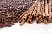咖啡和肉桂 — 图库照片