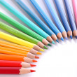 Assortment of coloured pencils — Stock Photo