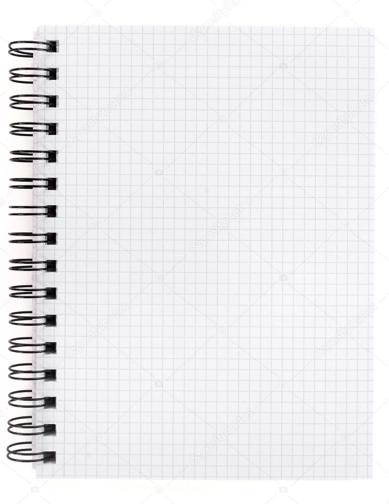 White lined page in a spiral bound notepad — Stock Photo #2492540