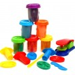 Colors plasticine - Stock Photo