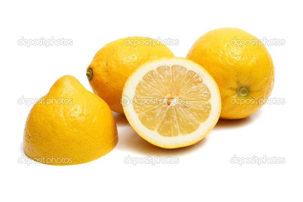 Ripe yellow lemon isolated on white background — Photo #2033989