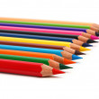 Row pencil — Stock Photo