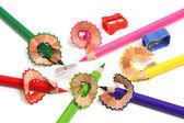 Rasatura e temperamatite matite — Foto Stock