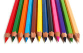Row sharp pencils — Foto Stock