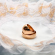 Two wedding rings — Stock Photo
