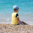 Royalty-Free Stock Photo: Sea and child boy