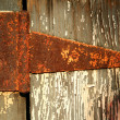Old rusty door hinge — Stock Photo #2011255