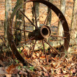 Old wagon wheel — Stock Photo